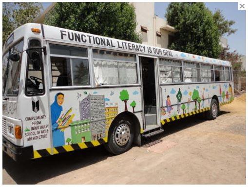 School in a bus - Karachi